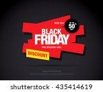 black friday sale banner. web... | Shutterstock .eps vector #435414619