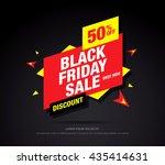 black friday sale banner. web... | Shutterstock .eps vector #435414631