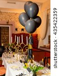 birthday guests table setting... | Shutterstock . vector #435422359