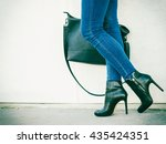 autumn fashion outfit.... | Shutterstock . vector #435424351