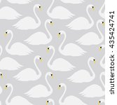 Seamless Pattern With Swans In...