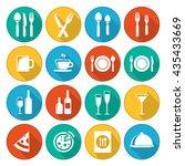 restaurant icon vector pack.... | Shutterstock .eps vector #435433669