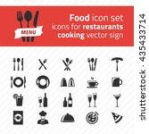 restaurant icon vector pack.... | Shutterstock .eps vector #435433714