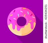 donut icon | Shutterstock .eps vector #435434251