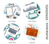 stock market analysis finance... | Shutterstock .eps vector #435435451