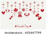 canada day greeting card or... | Shutterstock .eps vector #435447799