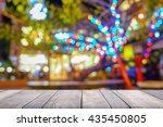 old wooden table with blur... | Shutterstock . vector #435450805