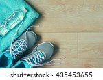 flat lay photo of sports... | Shutterstock . vector #435453655