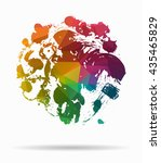 ink abstract poly icon | Shutterstock .eps vector #435465829