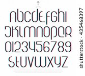 round 3d effect alphabet... | Shutterstock .eps vector #435468397