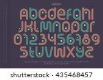 set of sport style alphabet... | Shutterstock .eps vector #435468457