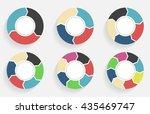 circle arrows infographics...   Shutterstock . vector #435469747