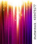 neon color light stage...   Shutterstock .eps vector #435475177