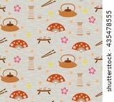 japanese vector background.... | Shutterstock .eps vector #435478555