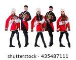dancer team wearing a folk... | Shutterstock . vector #435487111