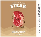 vintage steak poster design... | Shutterstock .eps vector #435488725