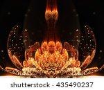 orange fractal flower with... | Shutterstock . vector #435490237