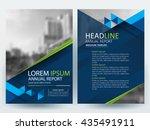 abstract vector modern flyers... | Shutterstock .eps vector #435491911