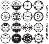 vintage labels | Shutterstock .eps vector #435493897