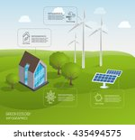 alternative energy sources and... | Shutterstock .eps vector #435494575