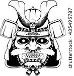 samurai mask | Shutterstock .eps vector #435495787