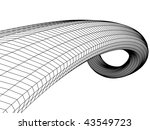 abstract sketch in monochrome... | Shutterstock .eps vector #43549723