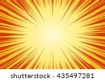 sun rays for comic books radial ... | Shutterstock .eps vector #435497281