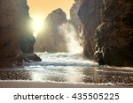 fantastic big rocks and ocean...   Shutterstock . vector #435505225
