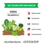 eat colors for your health... | Shutterstock .eps vector #435506509