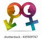profile man and woman poly icon | Shutterstock .eps vector #435509767