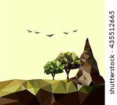 low poly landscape background | Shutterstock .eps vector #435512665