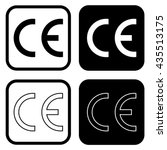 ce mark symbol . vector... | Shutterstock .eps vector #435513175