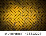 yellow metal sheet with dark... | Shutterstock . vector #435513229