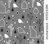 seamless pattern with... | Shutterstock .eps vector #435515284