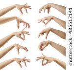 set of empty different hands to ... | Shutterstock . vector #435517141