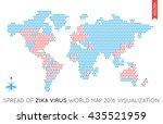 vector flat world map... | Shutterstock .eps vector #435521959