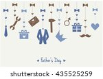 fathers day greeting card or... | Shutterstock .eps vector #435525259