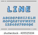 vector trendy flat font with... | Shutterstock .eps vector #435525334
