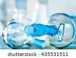 chemical laboratory glassware.... | Shutterstock . vector #435531511