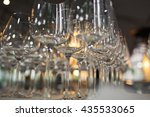 goblets for the wine on the... | Shutterstock . vector #435533065