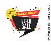 super sale and special offer... | Shutterstock . vector #435537379
