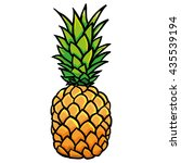 pineapple illustration vector  | Shutterstock .eps vector #435539194