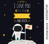 i love you to the moon and back ... | Shutterstock .eps vector #435540739