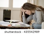 young attractive and desperate... | Shutterstock . vector #435542989