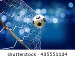 soccer ball in goal | Shutterstock . vector #435551134