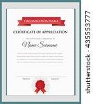 vector certificate template  | Shutterstock .eps vector #435553777