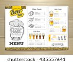 vintage beer menu design.  | Shutterstock .eps vector #435557641