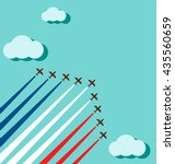 air show on the sky for... | Shutterstock .eps vector #435560659