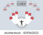 element for infographic ... | Shutterstock .eps vector #435562021