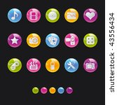 glossy circle icons  ... | Shutterstock .eps vector #43556434